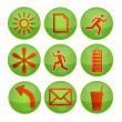 Interface green icons — Stock Vector #4507817
