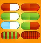 Icons pills set — Stock Vector