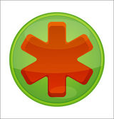 Medic green icon — Stockvector