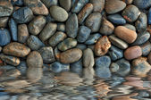Spa stones and water hot in Asia — Stock Photo