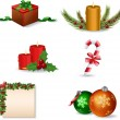 Stock vektor: New Year and Christmas icon set
