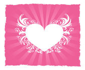 Valentine's Day pink heart postcard — Stock Vector
