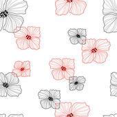 Flowers seamless retro pattern — Stock Vector