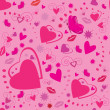 Valentines seamless pattern with hearts — Stock Vector
