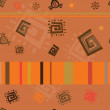 African theme abstract repeated ornament — Stockvectorbeeld