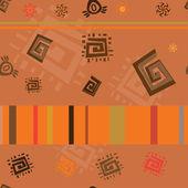 Африканские темы абстрактного неоднократные орнамент — Cтоковый вектор