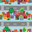 Royalty-Free Stock Vector Image: Cartoon town