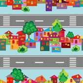 Cartoon town — Stock Vector