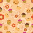 Royalty-Free Stock Vector Image: Cupcake seamless pattern
