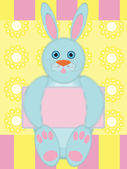 Greeting card with funny rabbit — Vector de stock