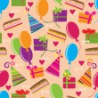 Royalty-Free Stock Vector Image: Seamless pattern with Happy birthday motives