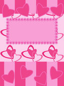 Greeting card Valentines day motives — Stock Vector
