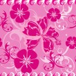 Stock Vector: Seamless Pink Hawaii Pattern