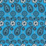 Paisley stile pattern on blue background — Stock Vector #5091157
