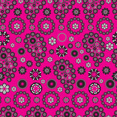 Paisley stile pattern on pink background — Stock Vector