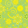 Flower pattern seamless background — Image vectorielle