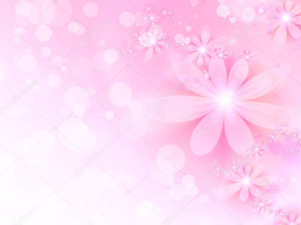 用分形花抽象粉红色背景