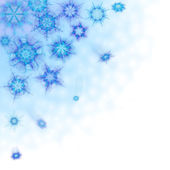 Beautiful background with snowflakes — Stock fotografie