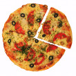 Pizza isolated on the white — Stock Photo #4689155