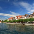 Stock Photo: Views of waterfront of Lake Constance. Meersburg.