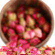 Tea from a tea-rose buds. — Stock Photo