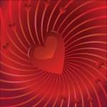 Valentine background, romance — Stock Vector