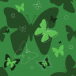 Stock Vector: Green butterfly
