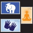 Vector illustration of blanks post stamps — 图库矢量图片 #4545644