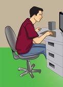Programmer — Stock Vector