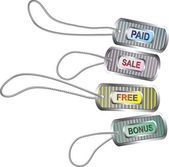 Set of metal tags for best sales — Stockvector