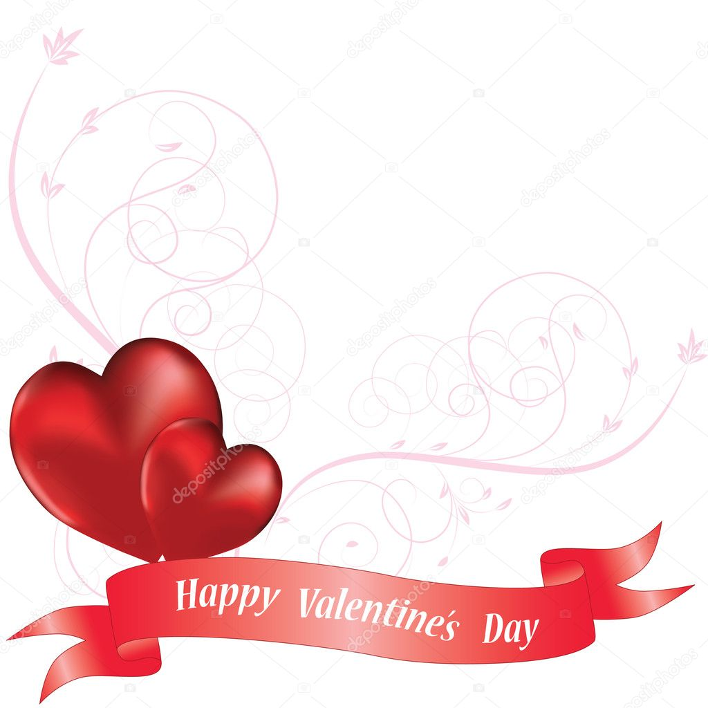 Ornamental heart background for valentine's day. Vector illustration. — Stock Vector #4545512
