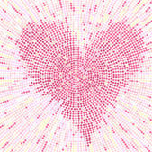 Valentine mosaic background — Stock Vector