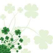 Floral ornate background to St. Patrick — Stock Vector