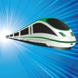 High-speed train — Stock Vector