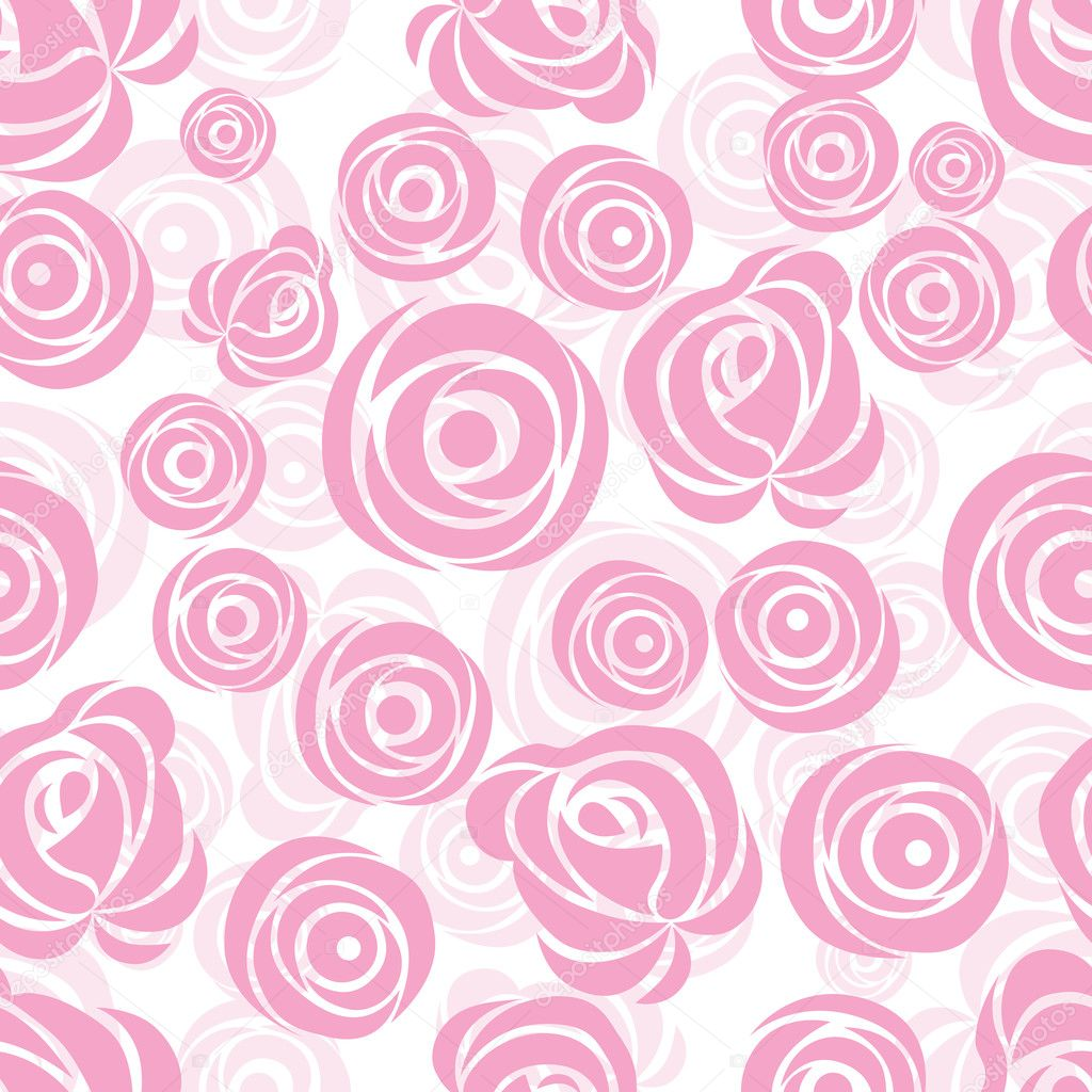 Seamless  flower background with rose, element for design, vector illustration. — Stock Vector #5043149