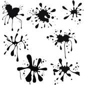 Vector illustration of black ink blot — Stock Vector