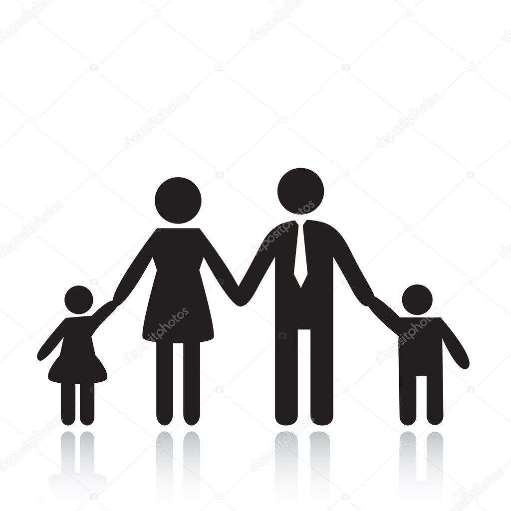 Family — Stock Vector © svetap #5106920