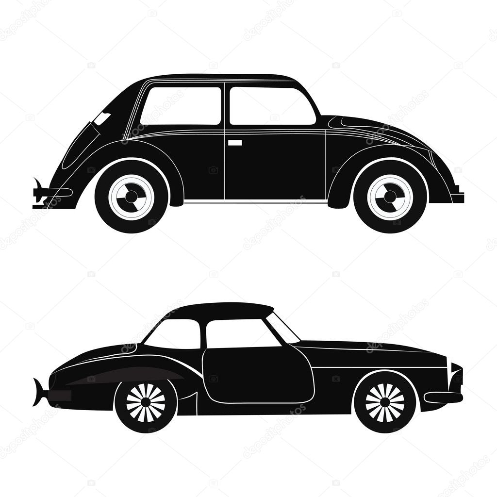 Set car silhouette, vector illustration  Stock Vector #5192875