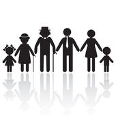 Silhouettes of family — Stock Vector