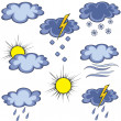 Royalty-Free Stock Vector Image: Graffito weather icon