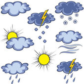 Graffito weather icon — Stock Vector