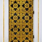 Ornamented gold door — Stock Photo
