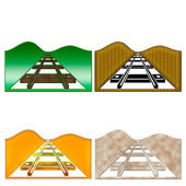3D-picture rails — Stock Photo