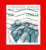 Post stamp Italia — Stock Photo