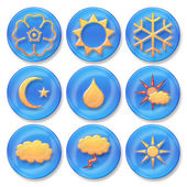 Weather buttons — Stock Photo