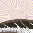The piano — Stock Vector