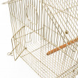 Empty Bird Cage with opened door — Stock Photo