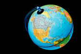 照亮的全球 — 图库照片
