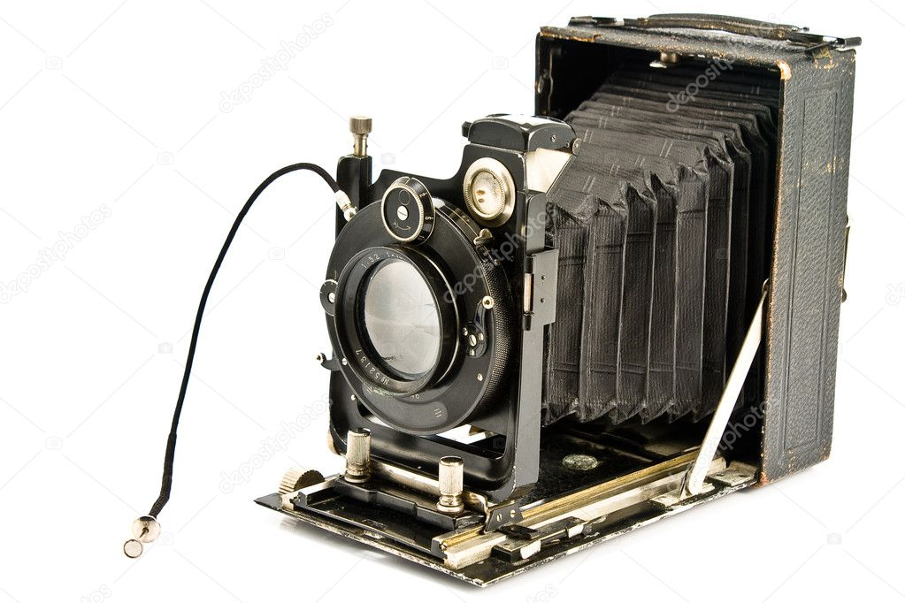 Old photo Camera isolated on white — Stock Photo #4863803