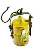 Old carbide miners lamp — Stock Photo